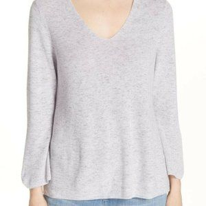 Eileen Fisher Organic Cotton Bell Sleeve Sweater